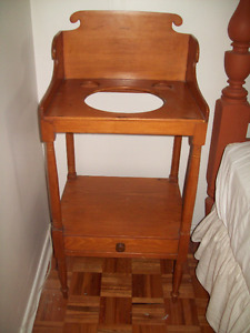 EARLY ANTIQUE WASHSTAND PINE OR MAPLE
