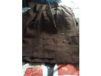 Vintage Plus size Office wear brown suit size 22