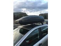 Exodus Roof box (470ltr) and areo roof bars to fit Peugeot 308