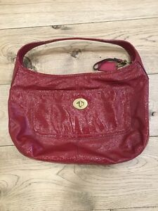 Coach Purse Red Patent Leather. Perfect Cond