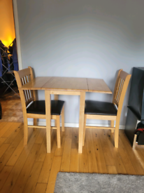 Dining table a chair set