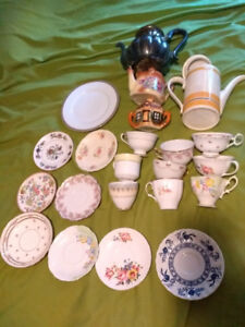 vintage bone china tea cups and saucers