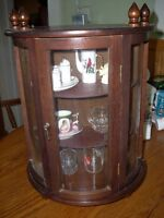 small display cabinet with curved front
