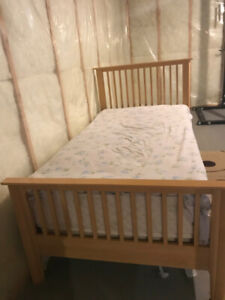Complete Twin Bed (Frame, box, Mattress)