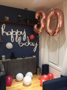 number 3 and 0 balloons for sell