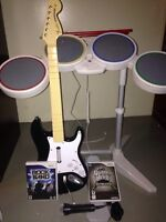 Rock Band kit for Wii w/Metallica