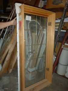 FOR SALE: Window with Brass Mutton Bars between Glass