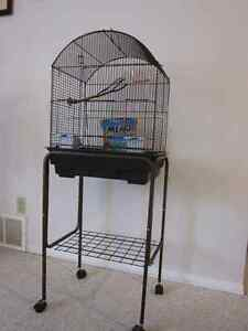 Finch or Canary Cage with Stand