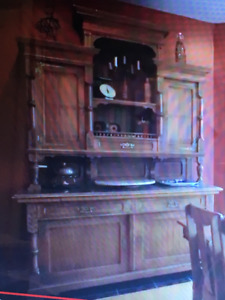 Beautiful Antique Buffet and Hutch