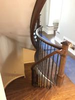 Custom Hardwood Stairs and Railings