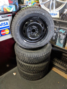 NEW! Winter Package P195/65R15 Tires and steel rims for Toyota