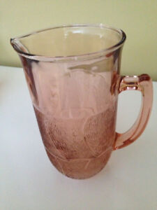 Rose depression glass various items