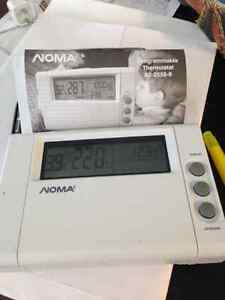 noma programmable thermostat how to set a numerical display