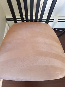 Beautiful tan suede chairs for sale! Peterborough Peterborough Area image 2