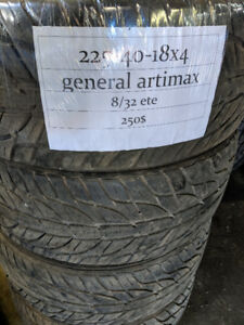 Pneus usages 225 40 18 ete general artimax