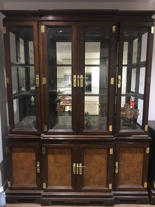 Original Oriental style display cabinet in good condition