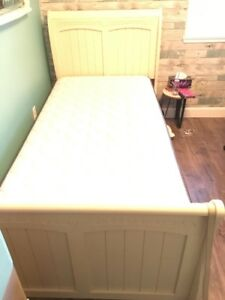 Single Bed fram with matress and box spring