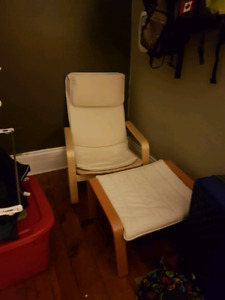 Ikea Chair and Stool