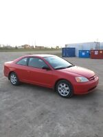 2002 Honda Civic Coupe - Amazing Condition / Low KM