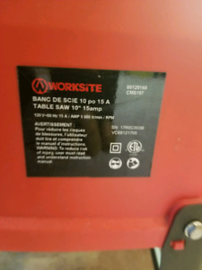 Worksite table saw 10""