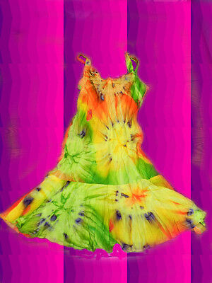 leid Woodstock 70er Jahre Blumenkinder Boho orange grün Gr. S (70er Jahre Batik)