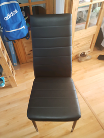 Brand New Unused Black Leather chair.