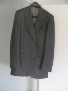 Grey Men's Wool Suit