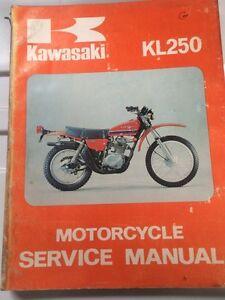 1977 1978 Kawasaki Factory KL250 Service Manual Regina Regina Area image 1
