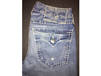 New: Men's True Religion Jeans, Ricky Big T, Size 34