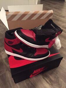 Nike size 14 Air Jordan's Retro 1 Banned