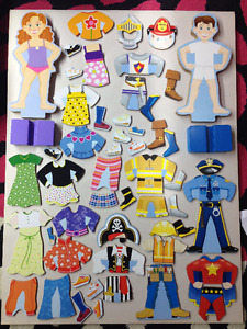Melissa & Doug Magnetic Dress-Up Doll- (50 pieces)