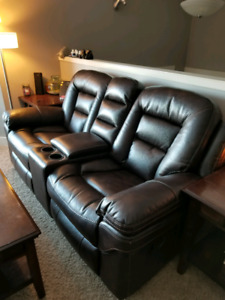 Leo leather couches