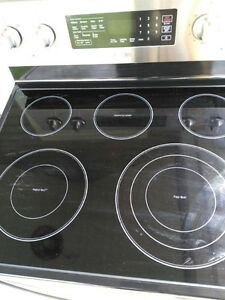 Brand New Stainless Steal Glass Top Stove Oven