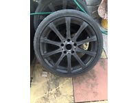 "Bmw m5 black 18"" alloy wheel can post"