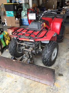 honda 250 fourtrax and snow plow