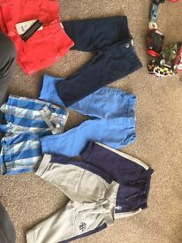 Bundle of boys 6-9 months trousers