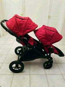 2017 Baby Jogger city Select double+ nacelle + extras