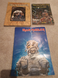 Iron Maiden Books Tour Program Heavy Metal Rare