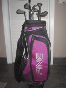 Ping Golf Bag - complete set of irons, putter and woods
