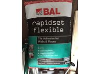 Grey tile adhesive - brand new in sealed bag