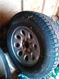 4 rims and tires for sale 265/70/17