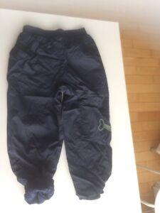 Pantalon automne printemps 6X enfant bleu marin doublé coton