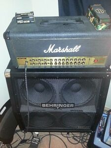 Marshal AVT150H and Behringer 4x12 cab
