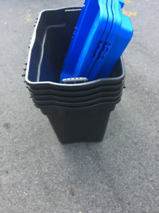 Plastic Heavy Duty Storage Tote Boxes - 5 pieces