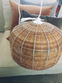 Cox and Cox current Lampshade and fitting Rattan Scandi price reduced