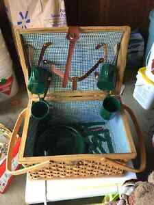 Picnic Basket with dishes and utensils Peterborough Peterborough Area image 1