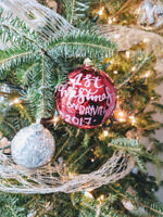 Modern Calligraphy Signs/Christmas ornaments