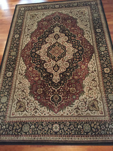 Made in the USA Chocolate and Burgundy Coloured Area Carpet