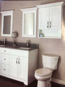 S-a-l-e bathroom wall-mount storage cabinets!!