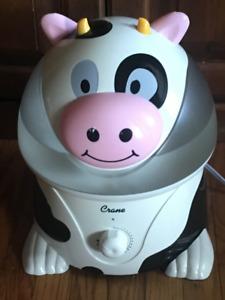 Crane Ultrasonic Adorable Cool Mist Humidifier, Cow